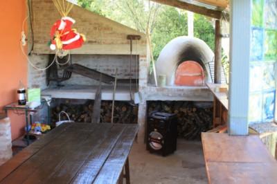 Parrilla y horno para pizza