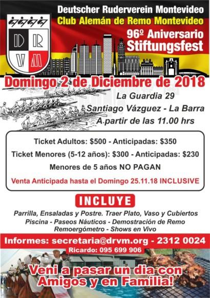 96º Aniversario Club Alemán de Remo Montevideo